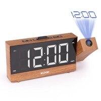 2 Colors Digital Alarm Clock Projection FM Radio Time Dual Alarm Display 2 USB Charging Ports With EU/US Plug Bedside LED Clock