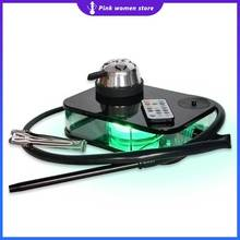 Acrylic Shisha Box Set with LED Light Hookah Nargile Sheesha Narguile Chicha Cachimbas Smoking Water