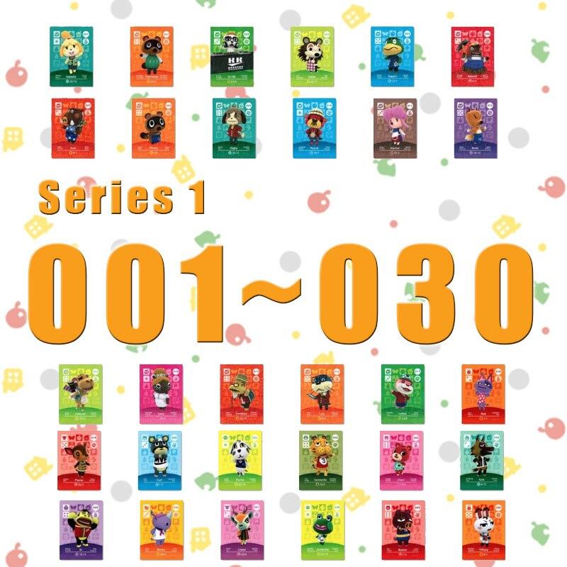 Tarjeta de cruce Animal Amiibo para juegos NS Series 1 (001 a 030)