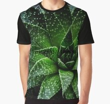 All Over Print T-shirt Mannen tshirt Succulent Haworthia fasciata Grote Print Volledige Print Vrouwen Grafische T-Shirt