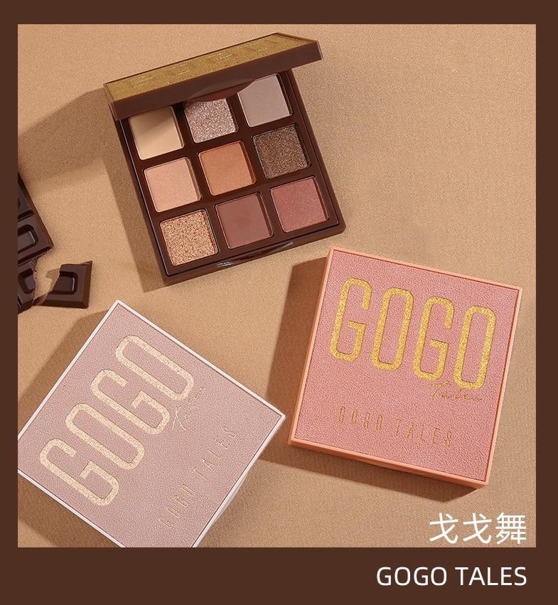 GOGOTALES paleta cieni do powiek 9 kolorów sucha róża różowy Shimmer matowy Nude Velvet Eyeshadow Pallete Pigment uroda makijaż paleta