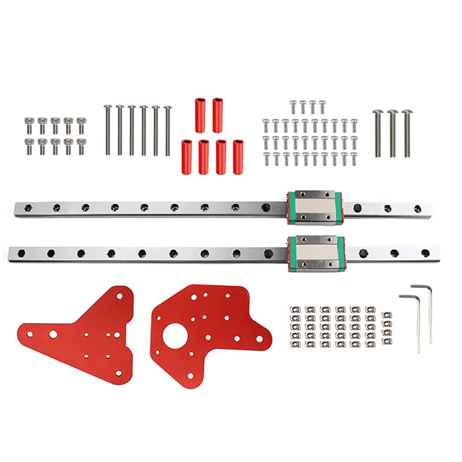 قطع غيار طابعة ثلاثية الأبعاد إصلاح دقيق مزدوج Z محور القضبان الخطية عدة الملحقات مع المنزلق المهنية لندر 3