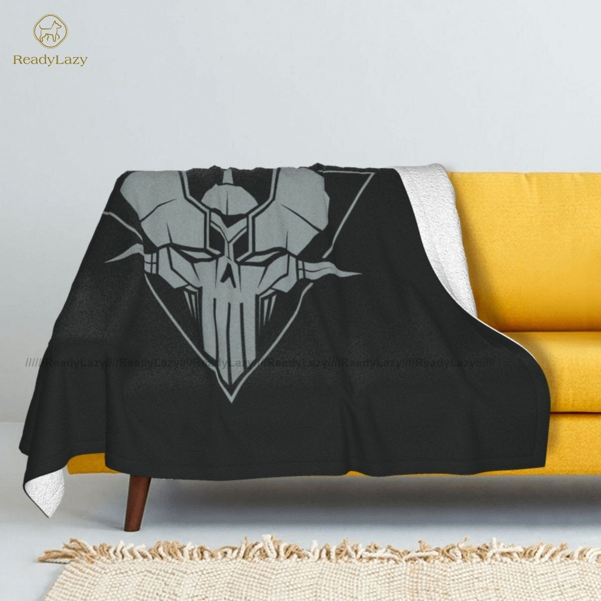 Mazinger Z-مفرش سرير من الصوف الناعم ، غطاء نوم عصري مزخرف