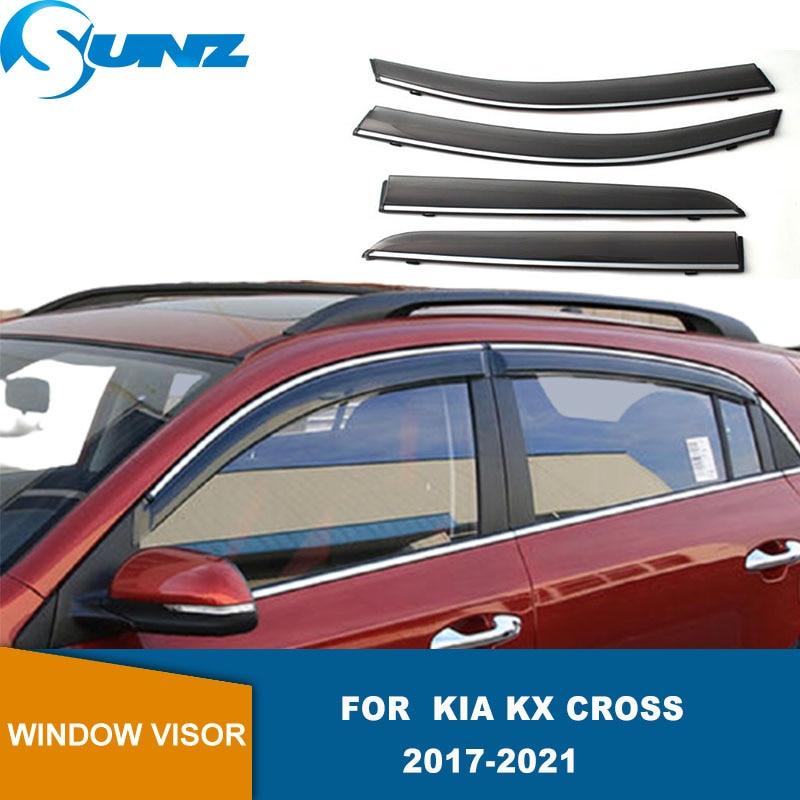Side Window Deflector For Kia KX Cross 2017 2018 2019 2020 2021 Smoke Window Visor Window Rain Guards Sun Rain Deflector  SUNZ