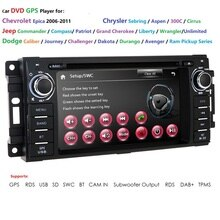 DVD de voiture pour Jeep Cherokee   2009, Wrangler Dodge Commander/boussole/Grand Cherokee voyage/Durango/Challenger radio stéréo 2008