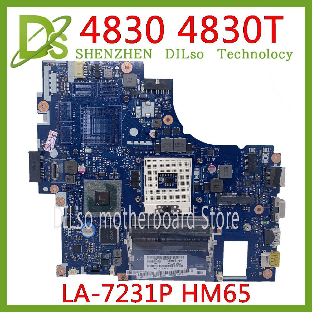 Kefu LA-7231P placa-mãe acer aspire 4830 4830tg 4830 t portátil placa-mãe LA-7231P hm65 ddr3 100% testado original