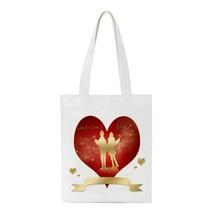 Femmes coréennes décontracté toile sac fourre-tout femme fille grande capacité Harajuku Shopper sac dames mariage saint-valentin sac à bandoulière
