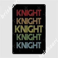 Knight     panneaux metalliques multicolores arc-en-ciel  pour cinema  decoration de maison personnalisee  affiches en etain