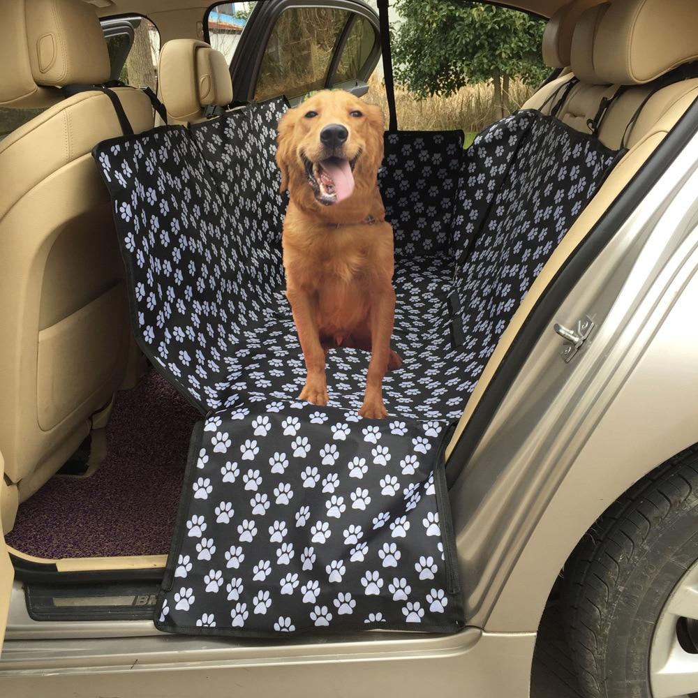 Tapis de voiture pour animaux de compagnie Oxford empreinte animaux de compagnie chien transporteurs arrière dos étanche housse de siège de voiture pour animaux de compagnie tapis hamac protecteur avec ceinture de sécurité