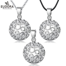 EUDORA Pregnancy Ball 22 mm Speical Design Pattern Pregnant Chime Ball Pendant Necklace Harmony Bola Angel Caller Jewelry B296