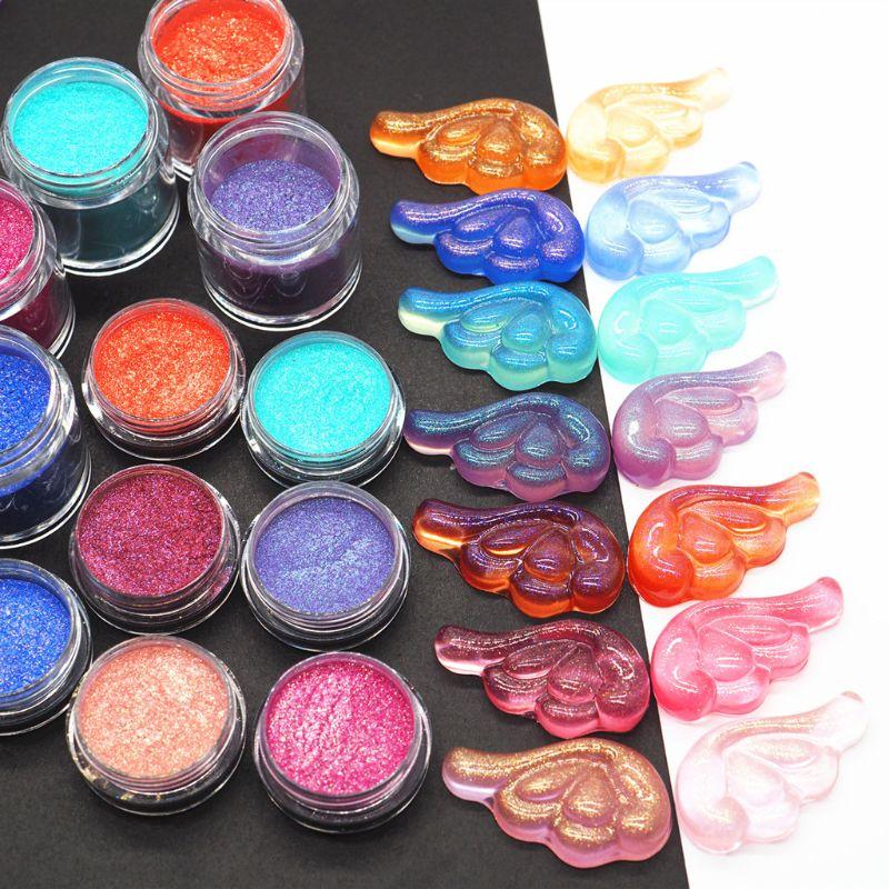 Pigmentos de resina láser, colores, brillos en suspensión, Molde de resina Epoxy, fabricación de joyas