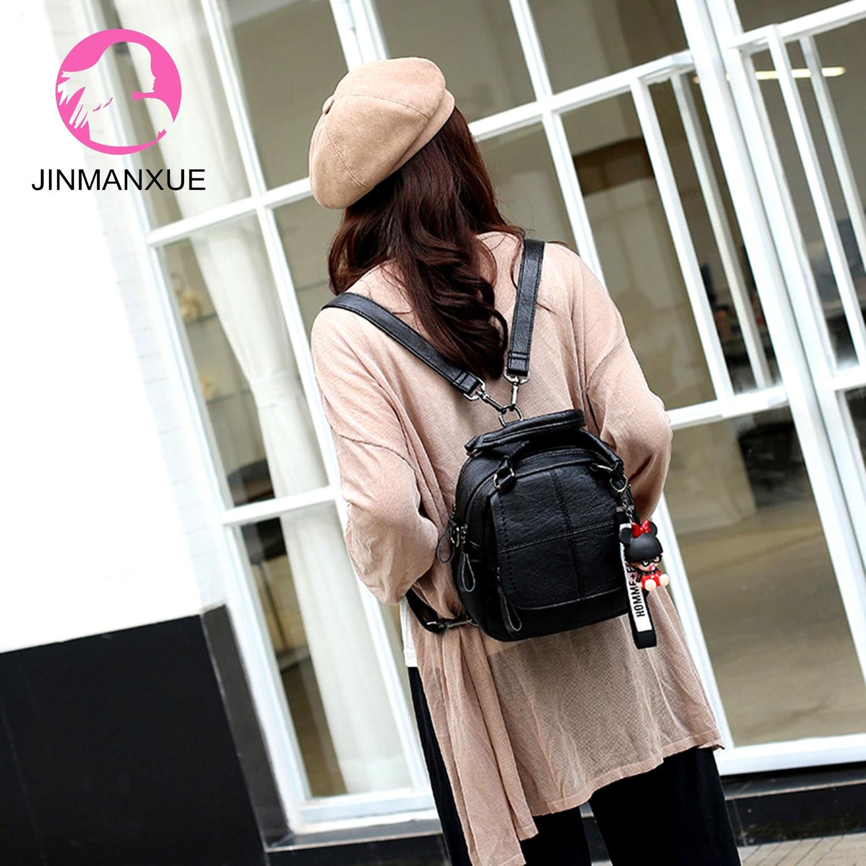 Многофункциональные мини-рюкзаки, женская модная сумка с кисточками, женские маленькие сумки для девочек-подростков, мягкая кожаная сумка ...