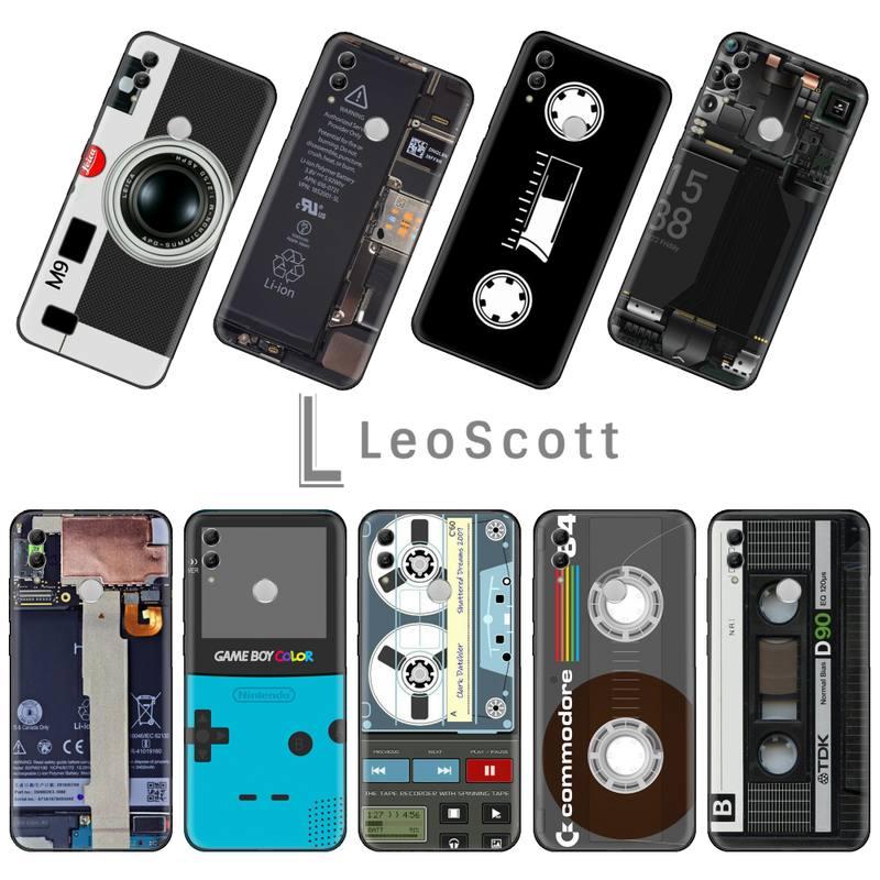 Vintage cinta magnética Cassette cinta de audio DIY funda de teléfono de lujo para Huawei Honor 7C 7A 8X 8A 9 10 10i Lite 20 NOVA 3i 3e