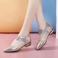 low heels ladies sexy lace pumps women summer casual mules golden black heels female formal office shoes