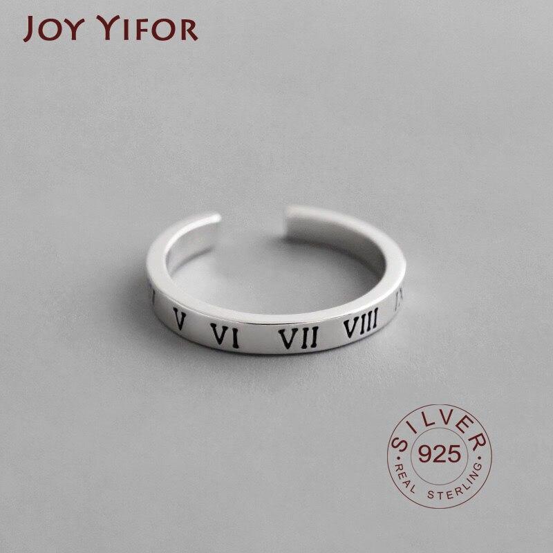 Anillos de plata de ley 925 auténtica, anillos de joyería fina, anillo de compromiso abierto, bonita estrella, regalo de boda para hombres y mujeres, anillo