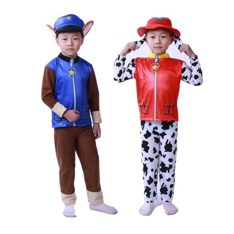 Kids Birthday Party Costume Zuma Rocky Marshall Chase Skye Rubble Cosplay Costume Boys Girls Carnival Dress