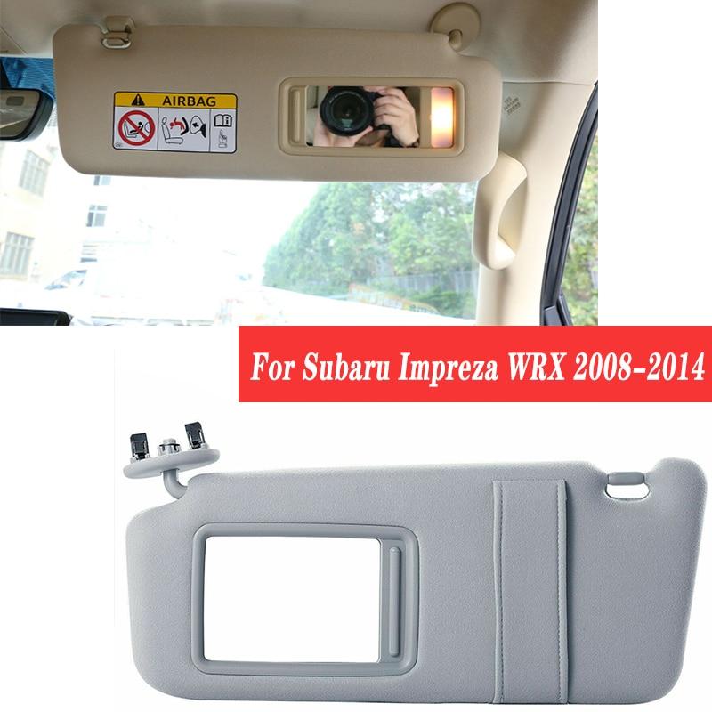 1PCS לסובארו אימפרזה WRX 2008 2009 2010 2011 2012 2013 2014 רכב פנים מגן שמש קדמי פנל Sunvisor איפור מראה