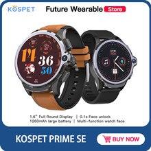 KOSPET PRIME SE 4G Vo-LTE smart watch z ponad 1.6 cal ekran Face ID 1260mAh podwójne aparaty 1GB + 16GB ceramiczne z systemem Android IP67 mężczyźni Sport
