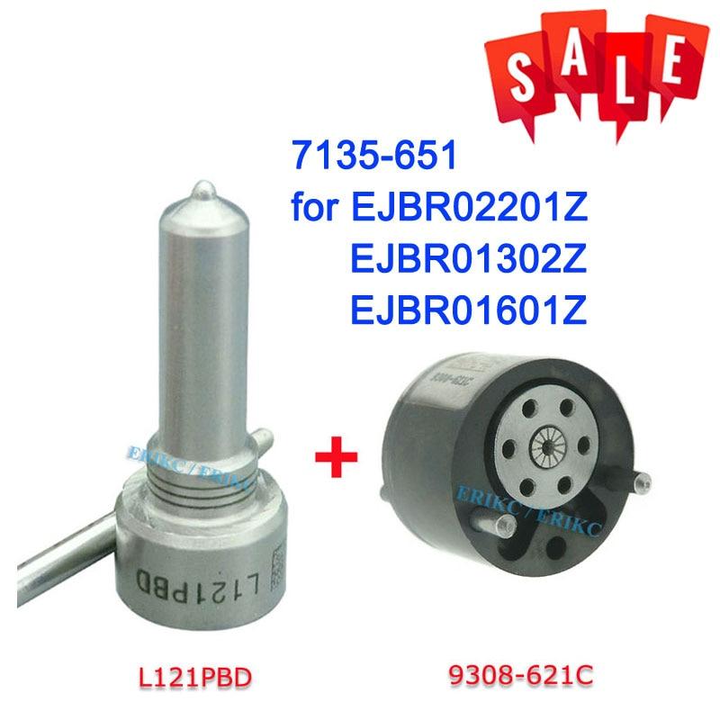 ERIKC 7135-651 Набор для ремонта инжектора включает форсунку L121PBD клапан 9308-621C для Delphi FORD 2T1Q9F593AA 1S4Q9F593AF RM2T1Q9F593AA