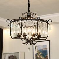 American Fashion Atmosphere Crystal pendant lamp Clothing Shop Decoration Lights Black/Bronze Pendant lights