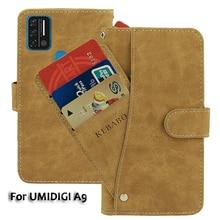 Vintage Leather Wallet UMIDIGI A9 Case 6.53