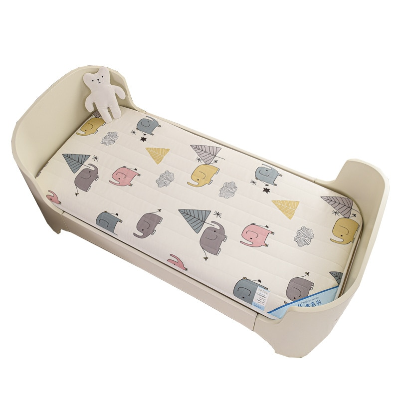 Baby Bed Mattress Pad 120x60cm Crib Mattress Cot  Bed Linen Cotton Mesh Double Sides Toddler Bed Set Elephant Dinosaur
