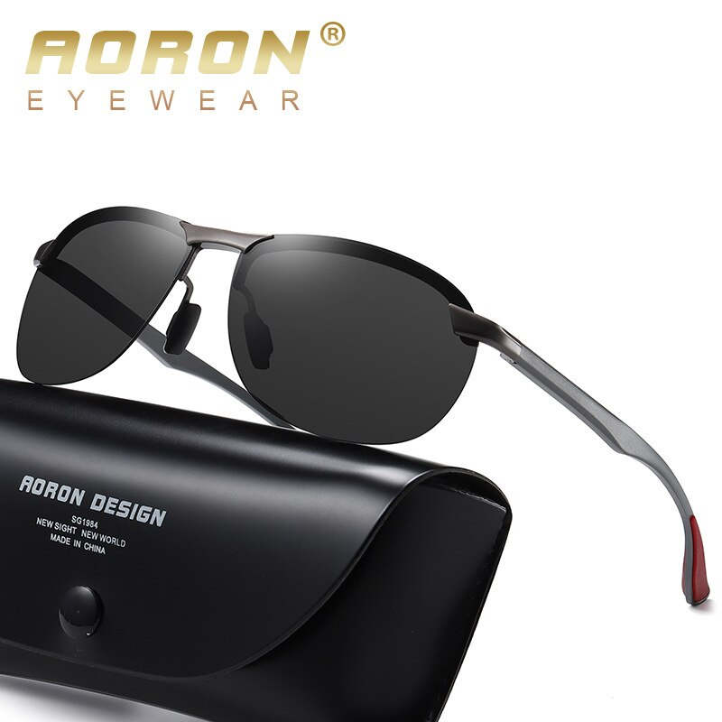 AORON New Aluminum Frame sunglasses men's polarized Sun Glasses Driver Driving Glasses UV400