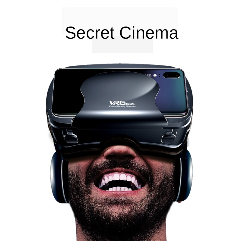 VR Glasses 3D Headset Virtual Reality Audio Video All-in-one Headset for 5~7 inch Mobile Phone enlarge