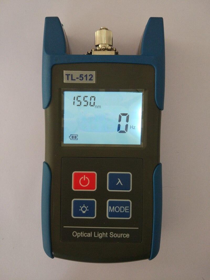 Tl512 1310/1550nm singlemode ou 850/1300nm multimodo handheld fonte de luz de fibra óptica