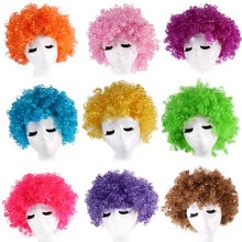 Halloween performance props children's colored hair adult cos explosive head party wig