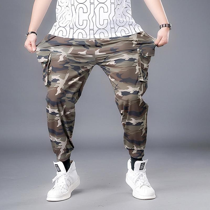 Брюки-карго мужские камуфляжные, мешковатые брюки в стиле милитари, военные тактические Длинные повседневные штаны, свободные прямые штаны...