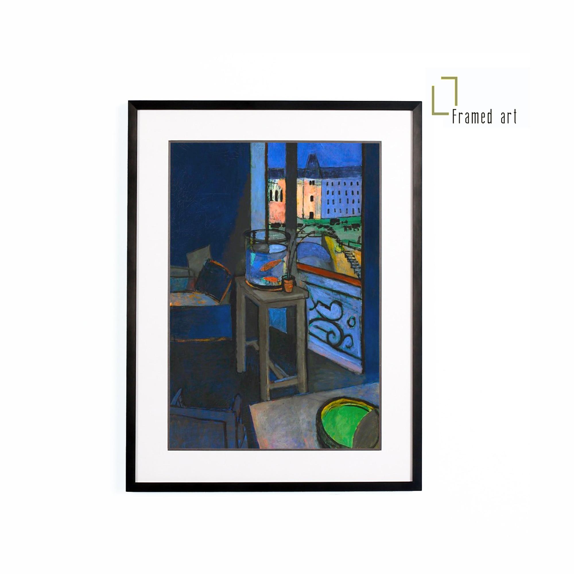 Матисс художественное произведение в рамке интерьер с золотой рыбкой чаша алюминиевая фоторамка с матовым покрытием 30x40cm
