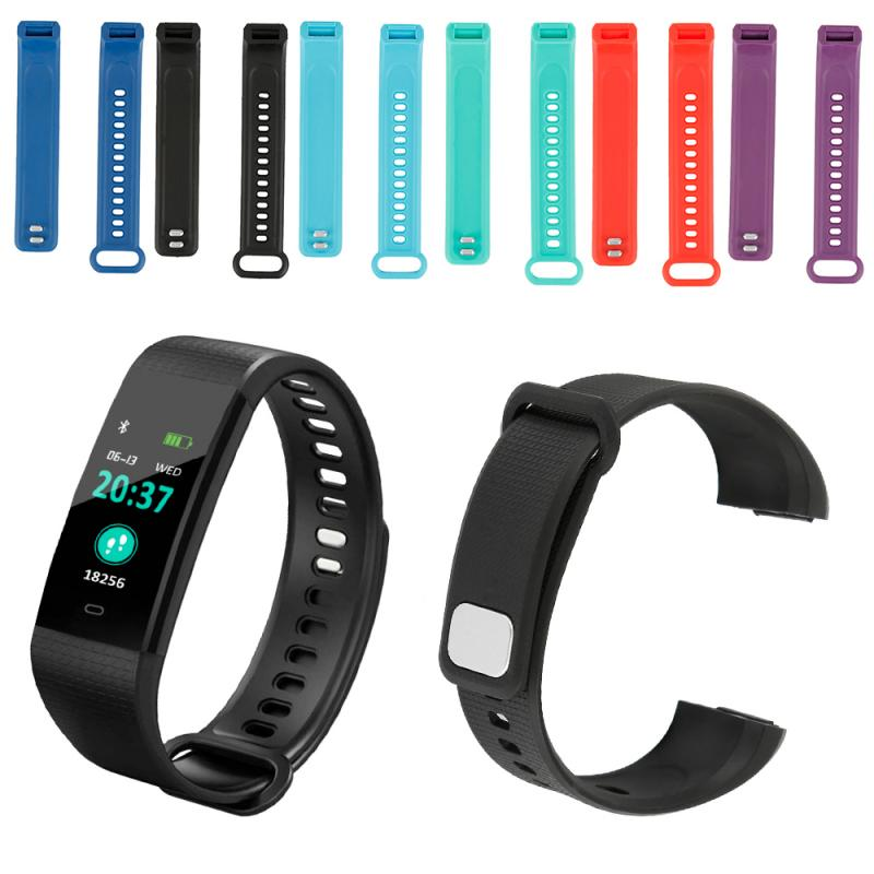 Suitable Smart BraceletSilicone Bracelet Strap Watch Band Sports Breathable Wrist Strap For Y5 Smart