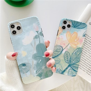 Chinese Style Lotus Mobile Phone Shell iPhone 11 Pro Max Case iPhone 11 Cases iPhone XR Case