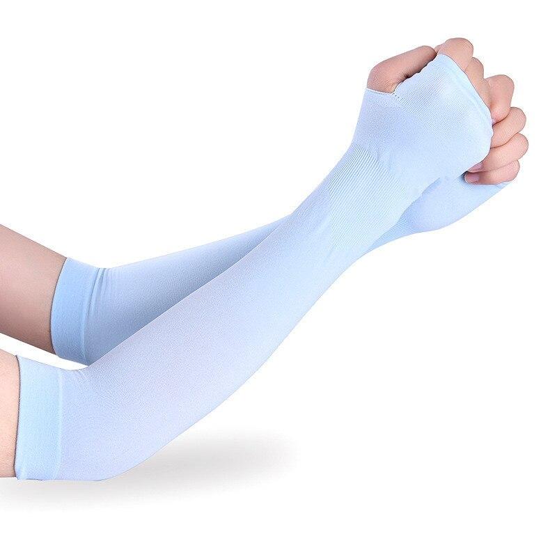 Protector solar de hielo manga de brazo al aire libre cubierta del brazo para correr manga de compresión guante