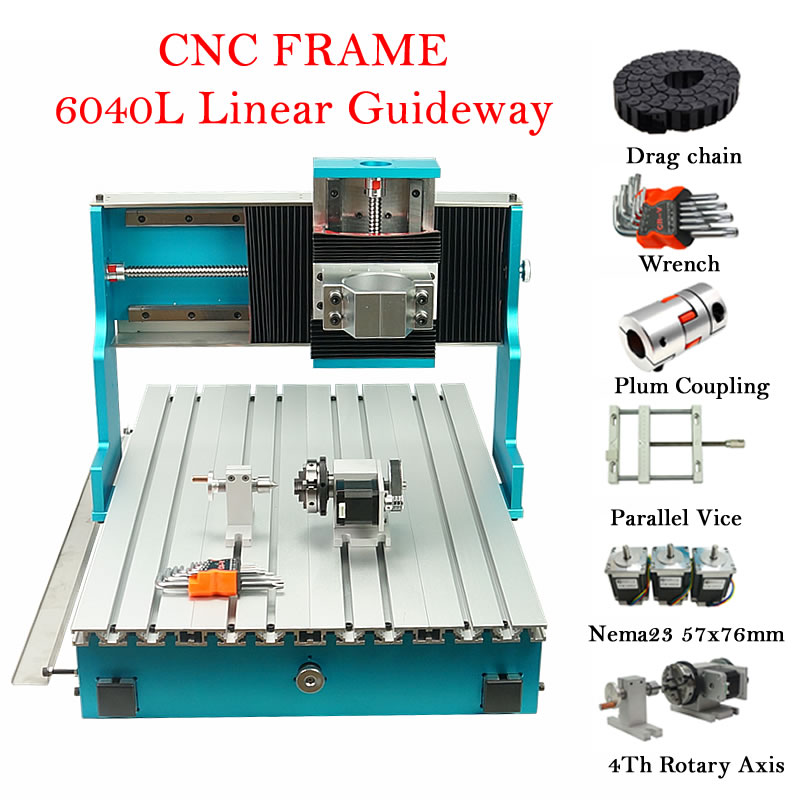 CNC 6040L إطار توجيه خطي لتقوم بها بنفسك النقش 6040 آلة طحن النجارة راوتر مخرطة مع محركات متدرج Nema23