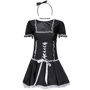 Adult Woman Maid Servant Costume High Quality Sexy Cosplay Miniskirt Outfit Erotic Lace For Lady Stage Costume Maid Sexy Dress