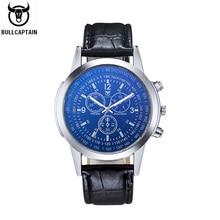 BULLCAPTAIN 2020 men's watch new sports watchs men stainless steel bezel pilot series