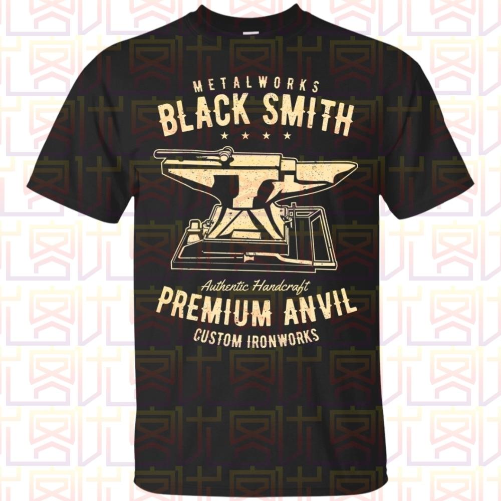 Camiseta Blacksmith, camiseta gráfica Blacksmithing, camisa de Fitness Unisex de primera calidad con dibujo para hombre