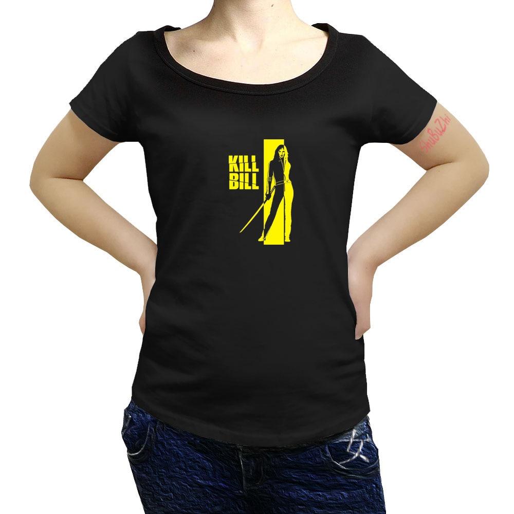 Camiseta Kill Bill, camiseta femenina de verano, camiseta divertida de algodón de manga corta 3xl, camiseta estampada sbz8050