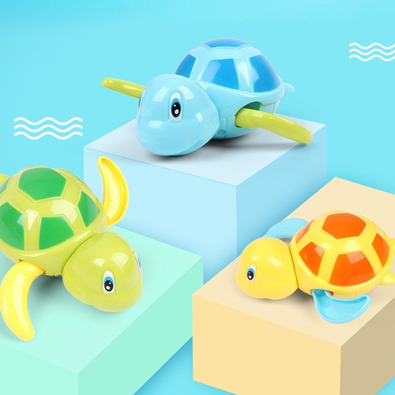 Children's Supplies Baby Water Toy ABS Plastic Cartoon Animal Blue/Green/Yellow Ripple 1Pcs Kids Beach Bath Toys