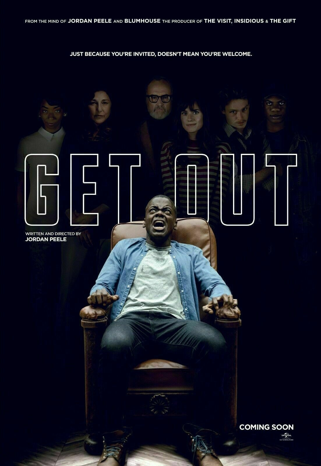 Get Out Movie Art Film Print Silk Poster Home Wall Decor 24x36inch