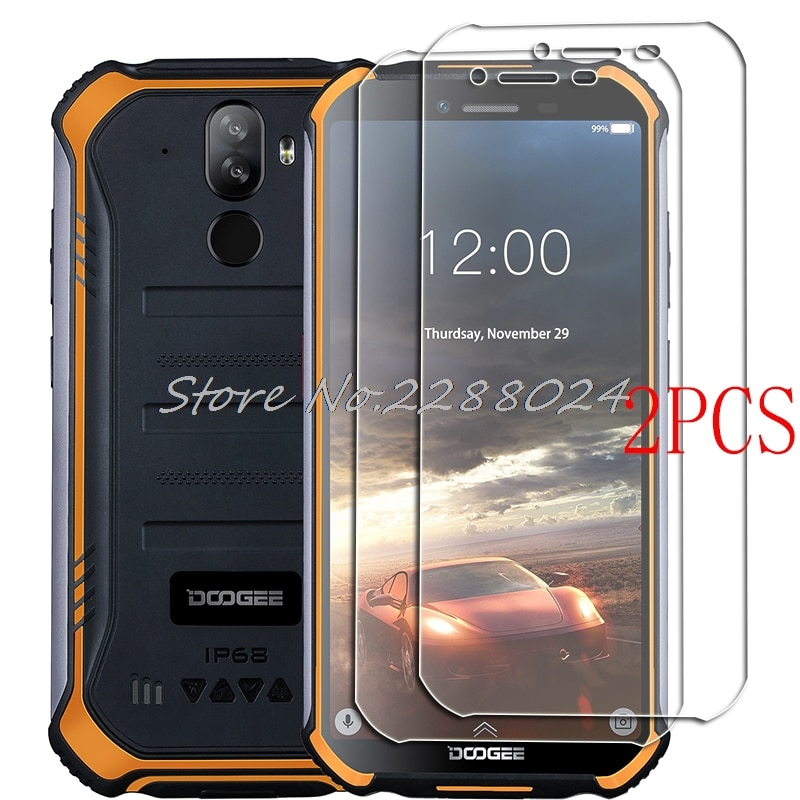 2PCS FOR Doogee S40 Lite Tempered Glass Protective on Doogee S40 Pro 5.5