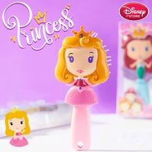 With Box Disney Princess Comb Rapunzel Belle Snow White Frozen Anna Elsa Hair Brush for Kids Baby Hair Care Disney Nutcracker