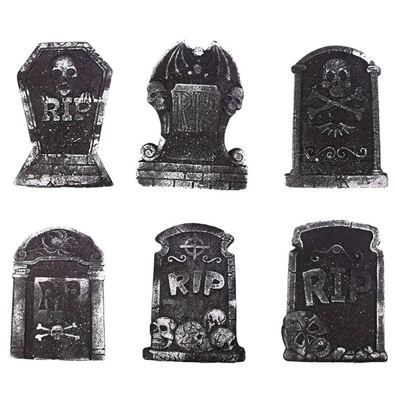 1 pc mousse pierre tombale squelette hanté maison pierre Grisly accessoires Halloween fête décor cour décor Style aléatoire