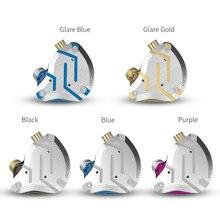 KZ-auriculares intrauditivos con tecnología híbrida, audífonos deportivos con Monitor de cancelación activa de ruido, HIFI, 4BA + 1DD, KZ ZS10 Pro
