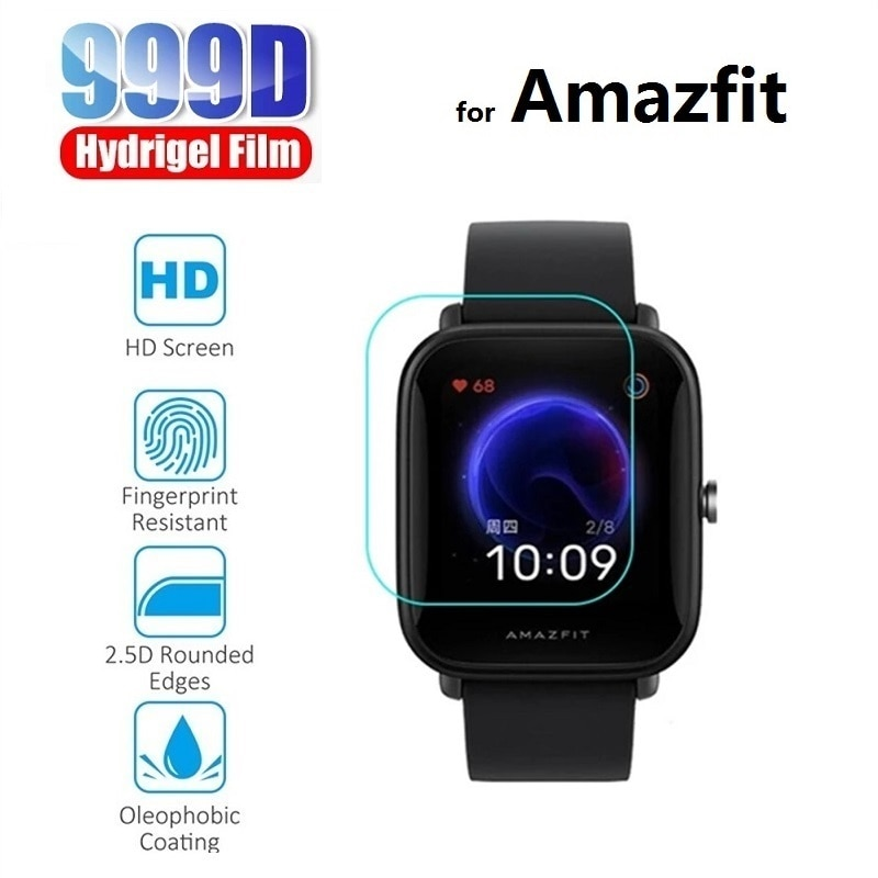 3x Hydrogel Protective Film for Amazfit Bip S U Pop Pro Amazfit Stratos 3 2s Pace (Not Glass) Screen Protector Foil