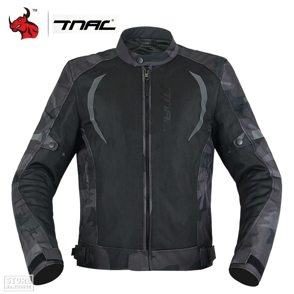 top good motorcycles military enthusiasts summer wear breathable mesh fabric hard protective overalls motorcycle clothing 507g TNAC Men Motorcycle Jacket Summer Breathable Mesh Motocross Off-Road Jacket Protective Gear Reflective Motobike Clothing