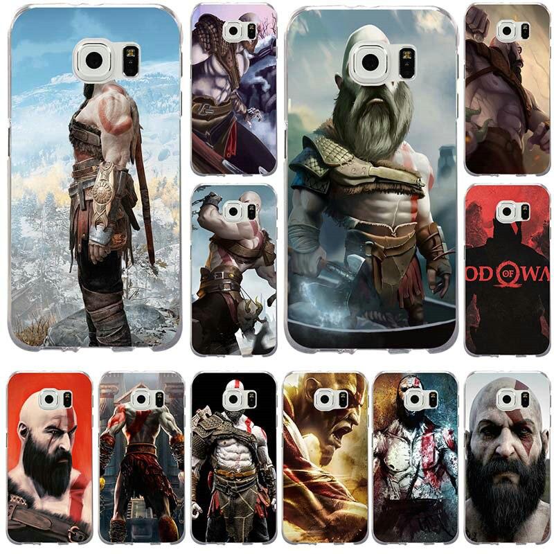 Kratos Dieu De Guerre Doux TPU étuis de téléphones portables pour Samsung Galaxy Note 2 3 4 5 8 S2 S3 S4 S5 Mini S6 S7 S8 S9 Bord Plus