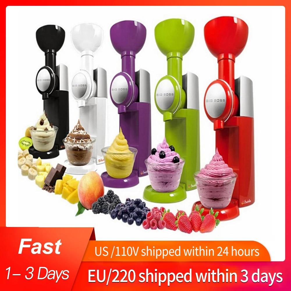 110V/220V High Quality Automatic Frozen Fruit Dessert Machine Fruit Ice Cream Machine Maker Milkshake Machine EU/AU/UK/US недорого
